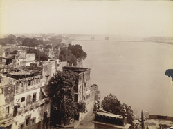 View on the Ganges, Benares.